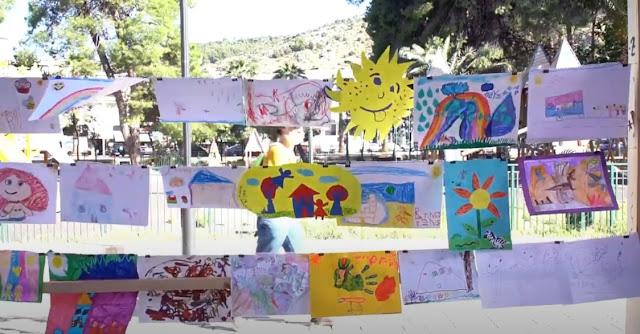 Ναύπλιο: Παιδιά προσχολικής και νηπιακής ηλικίας έκαναν την δική τους έκθεση ζωγραφικής (βίντεο)