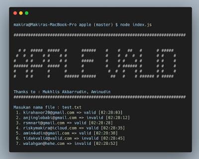 Script Apple Valid Email Checker Terbaru