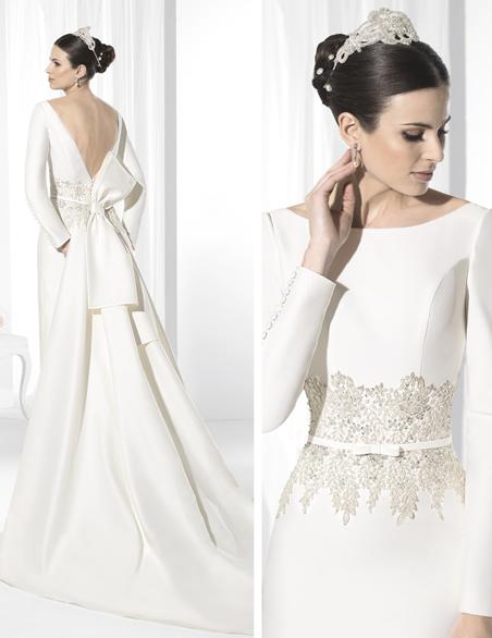 elegantes vestidos de novias | colección franc sarabia | somos novias
