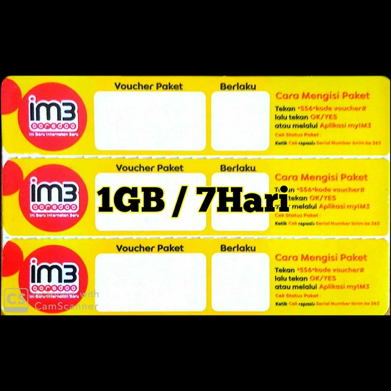 Data Im3 1GB/7HARI
