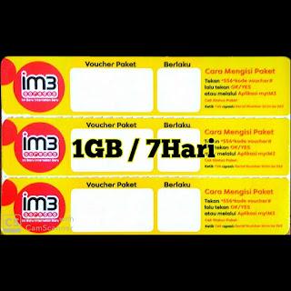 Data Im3 1GB/7HARI