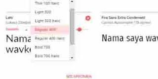 cara memasang font pada website
