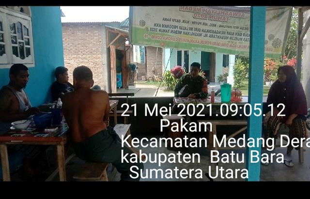 Masih Suasana Idul Fitri, Personel Jajaran Kodim 0208/Asahan Laksanakan Silaturahmi Dengan Perangkat Desa