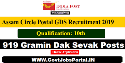 Assam Post Circle Recruitment 2019