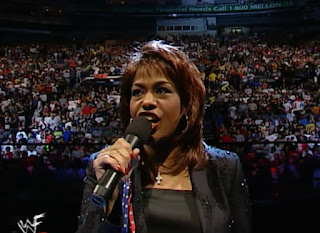 WWE / WWF Unforgiven 2001 - Jennifer Holiday sang America The Beautiful
