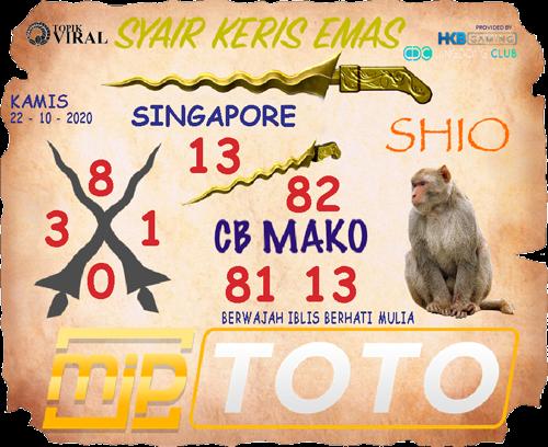 Kode syair Singapore Kamis 22 Oktober 2020 177
