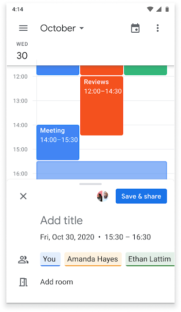 Schedule Google Calendar events from Google Chat 3