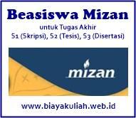Beasiswa Mizan 2019/2020 untuk Tugas Akhir S1 (Skripsi), S2 (Tesis), dan S3 (Disertasi)