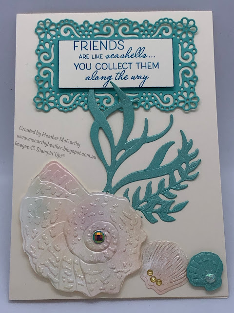 Friends are Like Seashells, Seashells embossing folder, Stampin' Up!