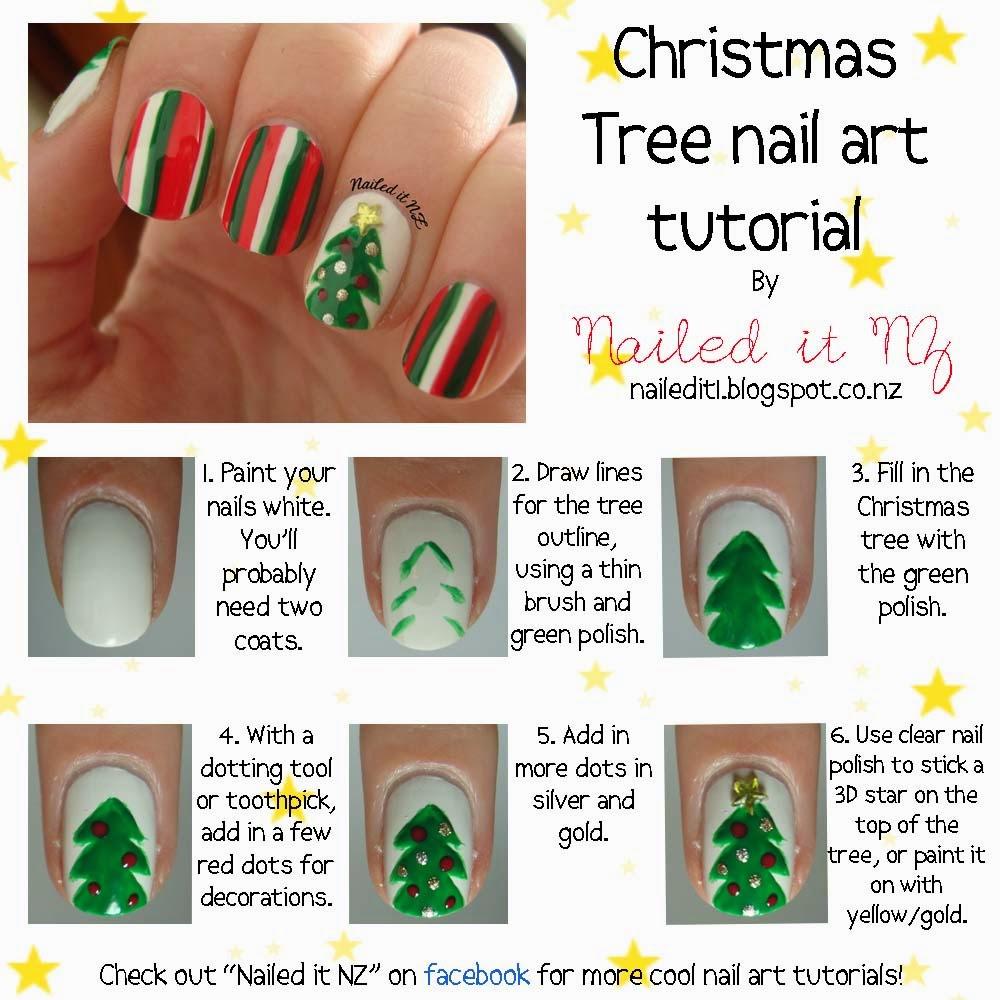 Christmas Tree Nail Art: Ideas & Products: Christmas Tree Nail Art