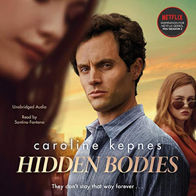 Cover of hidden bodies audiobook featuring actors from the netflix show you