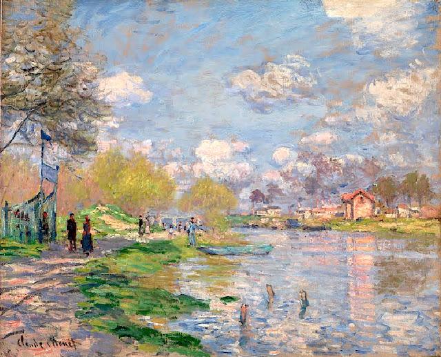1875. Claude Monet - Spring by the Seine