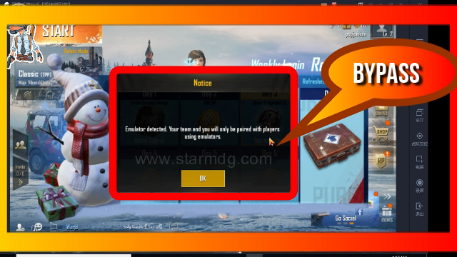 How to bypass an emulator detected in a Tencent PUBG emulator - STARMDG