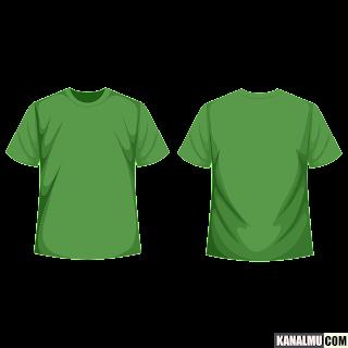 mentahan kaos polos hijau lengan pendek PNG - kanalmu