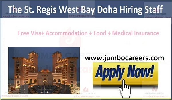Doha hotel jobs with visa and accommodation,