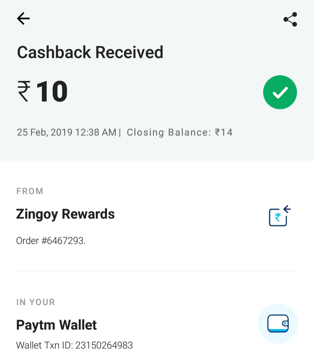 Paytm new add money promo code Get ₹3 Cashback Zingoy+Paytm
