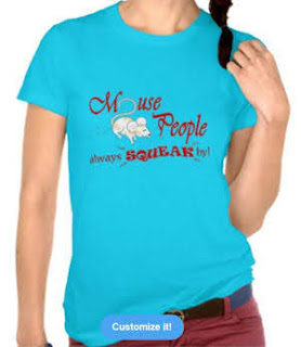 """""""Mouse People"""" mouse T-Shirt, Red Text"""