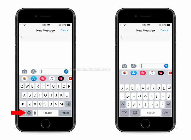 cara guna tulisan jawi di telefon untuk iphone
