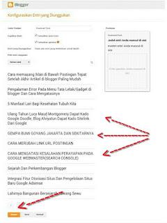 Langkah 5 memasang featured post