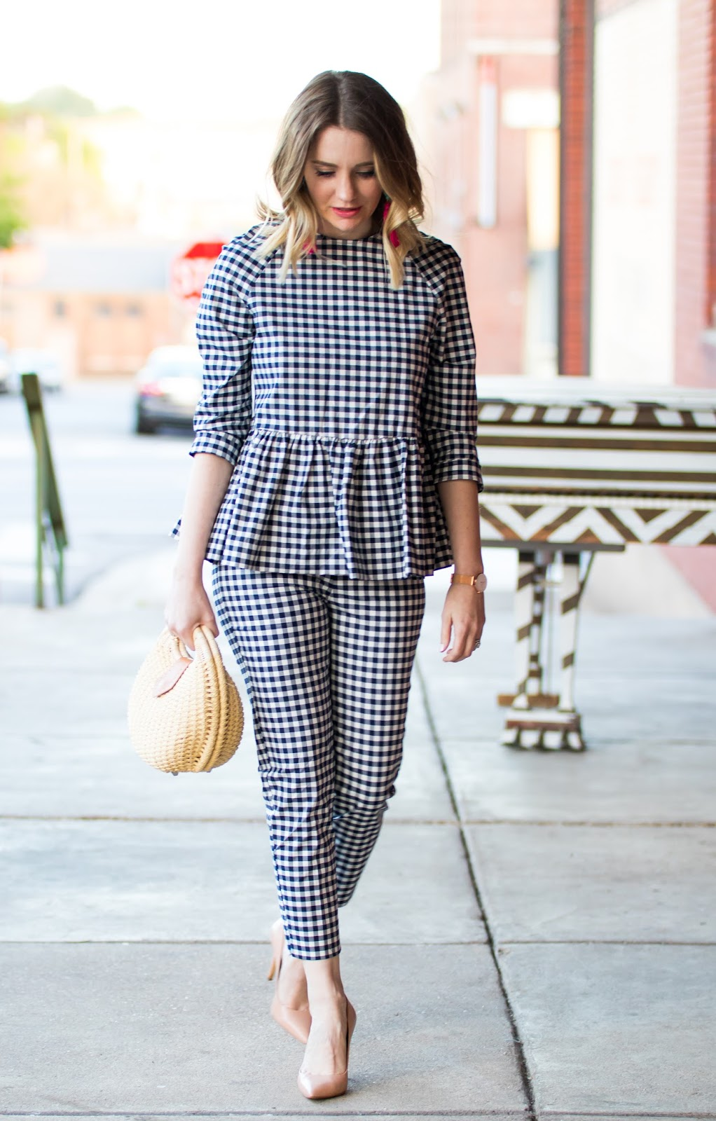 07d0b14813e5 Victoria Beckham for Target Gingham Outfit - Pretty in Pink Megan