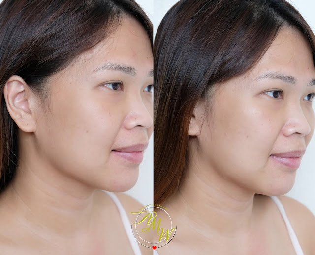 before and after photo of Cloud Cosmetics Milky Way Face Cream Illuminating Moisturizer Review