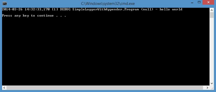 writing custom appender log4net