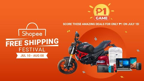 Shopee FREE Shipping Festival brings you amazing deals for P1