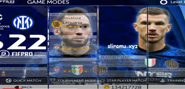 FTS 22 Mod Inter Milan (300MB) Grafik HD Update Transfer Pemain & Kits 2021-2022