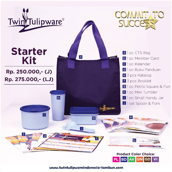 Harga Baru Paket Member Tulipware 2017, Commit To Success, Kitbag, Starter Kit