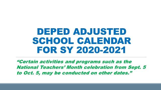 DepEd to release adjusted school calendar