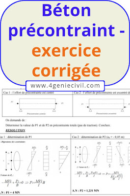 exercice avec solution béton précontraint
