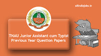 TNAU Junior Assistant Previous Year Question Papers