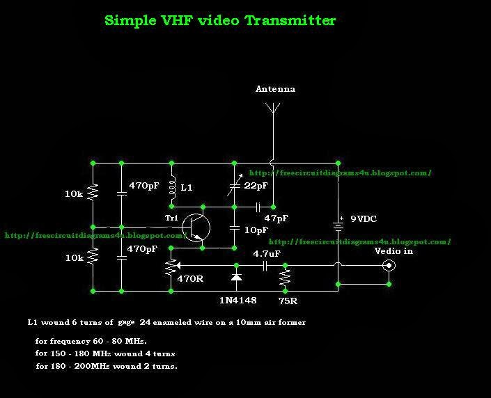 Diy Wireless Audio Video Sender Circuit Eleccircuitcom
