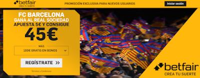 betfair supercuota liga Barcelona gana Real Sociedad 7 marzo 2020