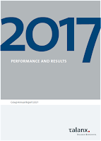 Front page of Talanx 2017 annual report