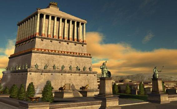 Mausoleo de Halicarnaso. Las 7 maravillas del mundo antiguo