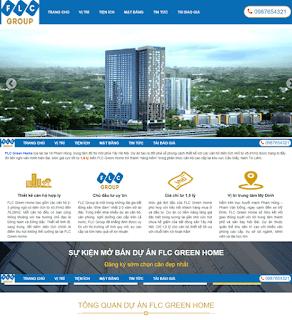 Giao diện Website Dự án Bất động sản - Theme Blogspot - Blogspotdep.com