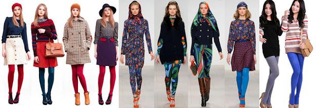 Модные цветные колготки Волгоград