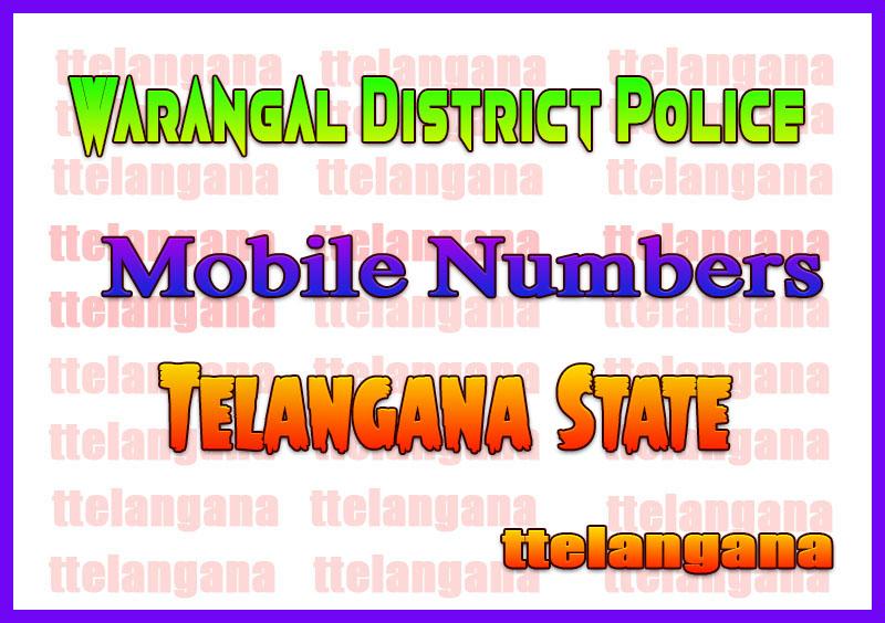 Warangal District Police Officer Numbers List Telangan State
