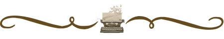 Separador máquina de escribir vintage