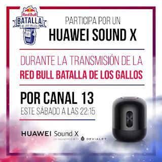 Huawei sorteará un parlante Sound X durante la transmisión de la Red Bull Batalla de los Gallos