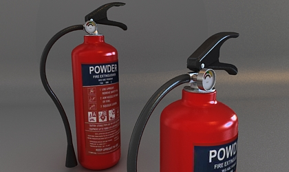 extinguisher 3d model free