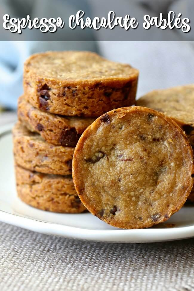 Shortbread chocolate chip cookies