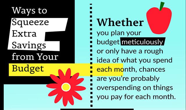 Ways to reduce your budget's additional savings #infographic