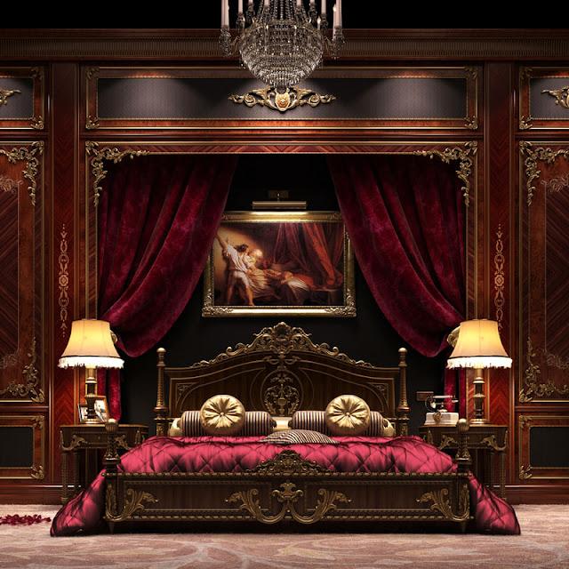غرف نوم ملكيه