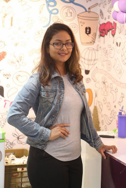 Aditi Myakal Stills At Temptys Milk Shakes Launch