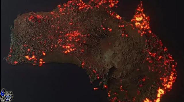 صور لحرائق أسترالية مأخوذة من محطة الفضاء ArabNews2Day