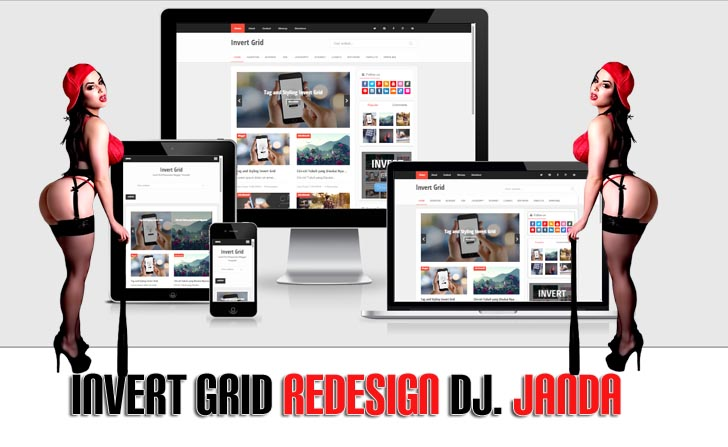 Invert Grid Redesign Pro Template - Responsive Blogger Template