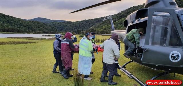 Operativo de caleta Cóndor a Hospital de Osorno para auxiliar a jinete