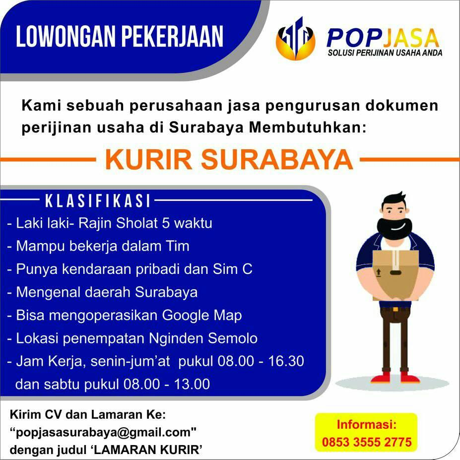 Lowongan Kerja Kurir Pop Jasa Surabaya Pencari Kerja